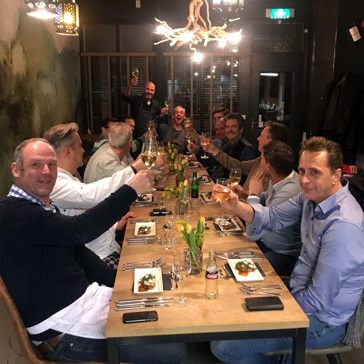 een restaurant zonder andere gasten